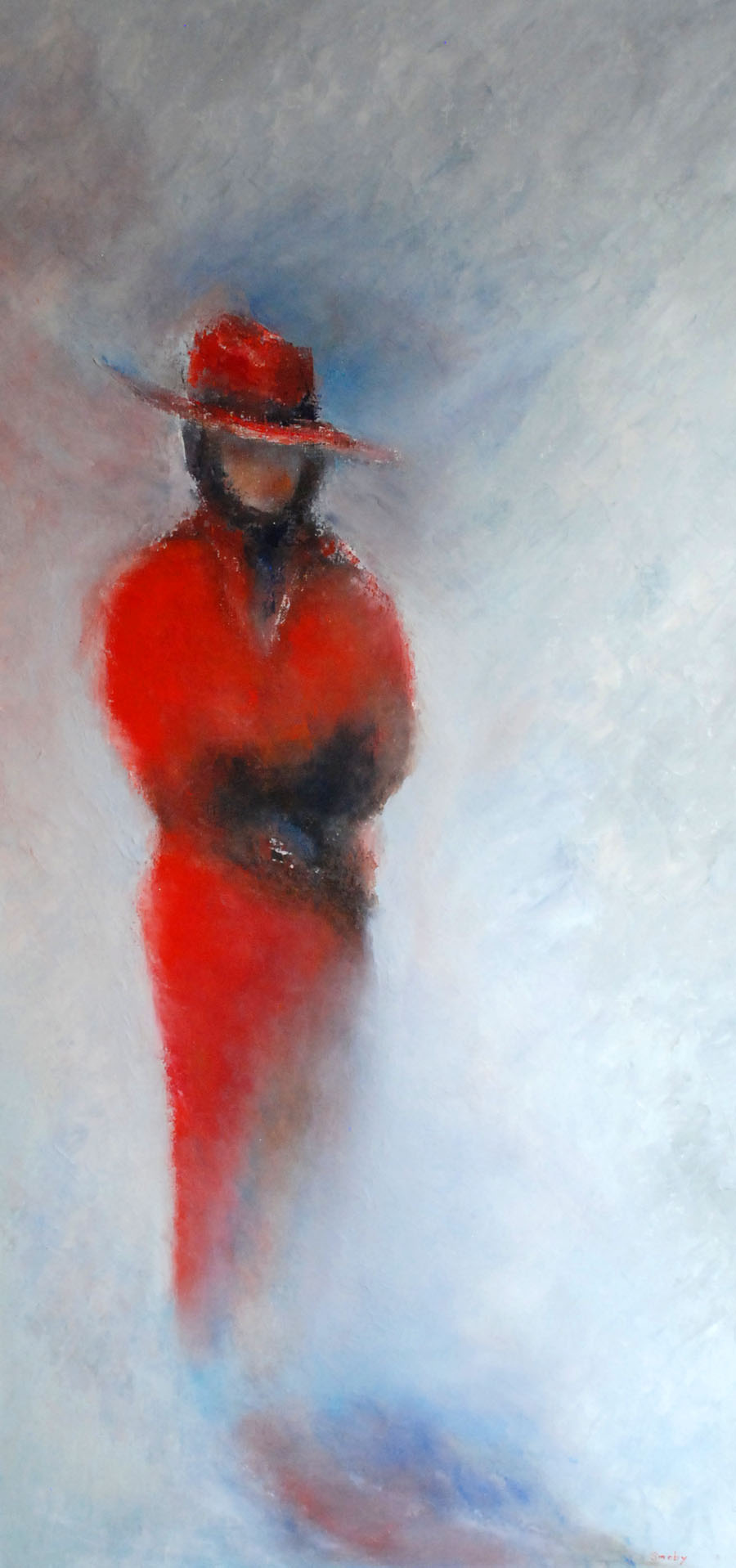 Red Lady 124 x 63 cm